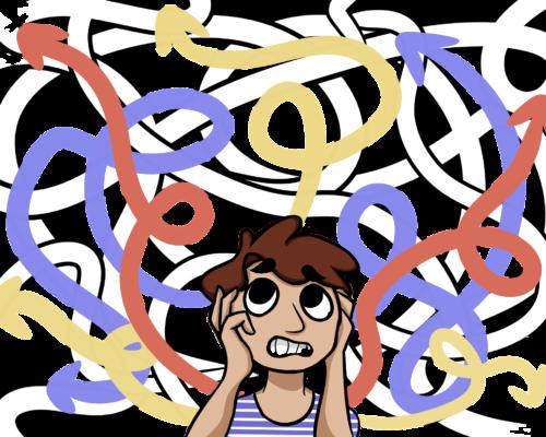 chaotic thinking illustration